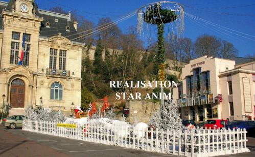 décors de neige et location de décors de noel Star Anim